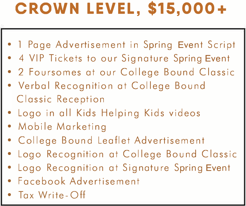Crown Sponsorship Tier